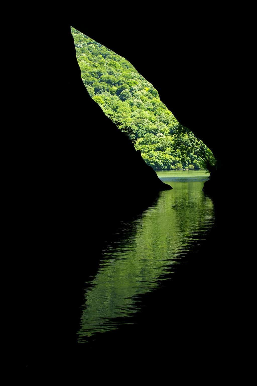 Reflection mystic cave entrance