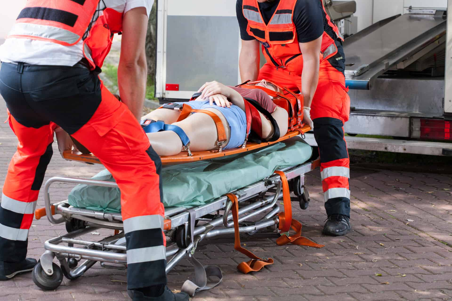 accident on the stretcher